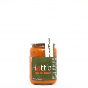 Hottie Sambal op basis van tomaat en rode pepers